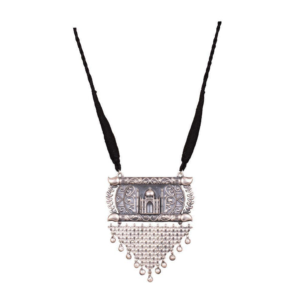 Taj Mahal Design Oxidized Necklace