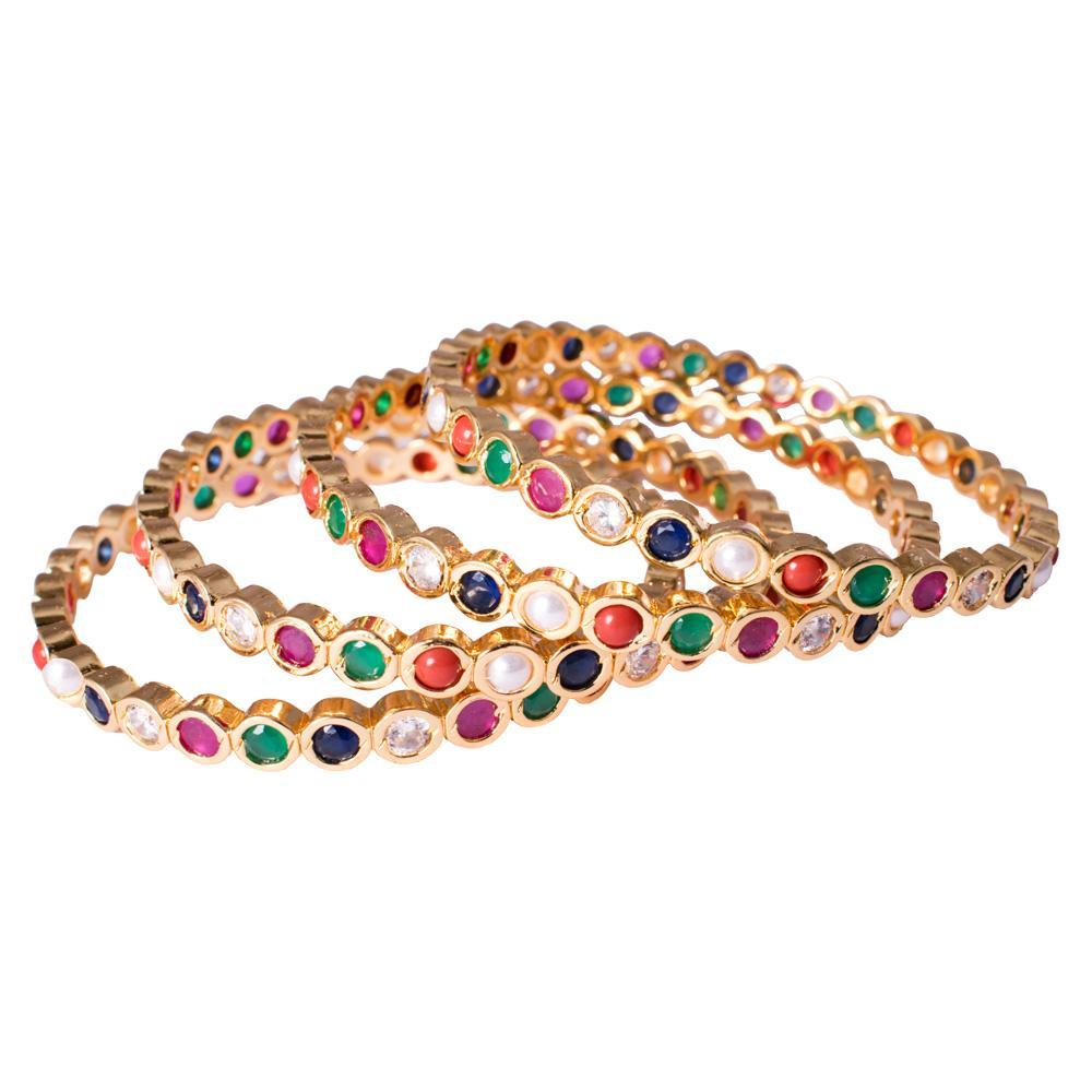 Navaratna Opulence Set of 4 Bangles