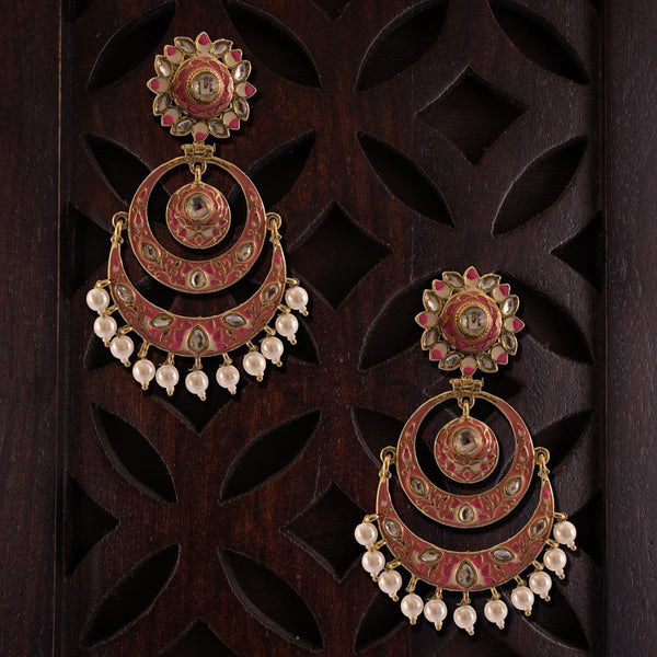 Chandbali stylish deep earrings