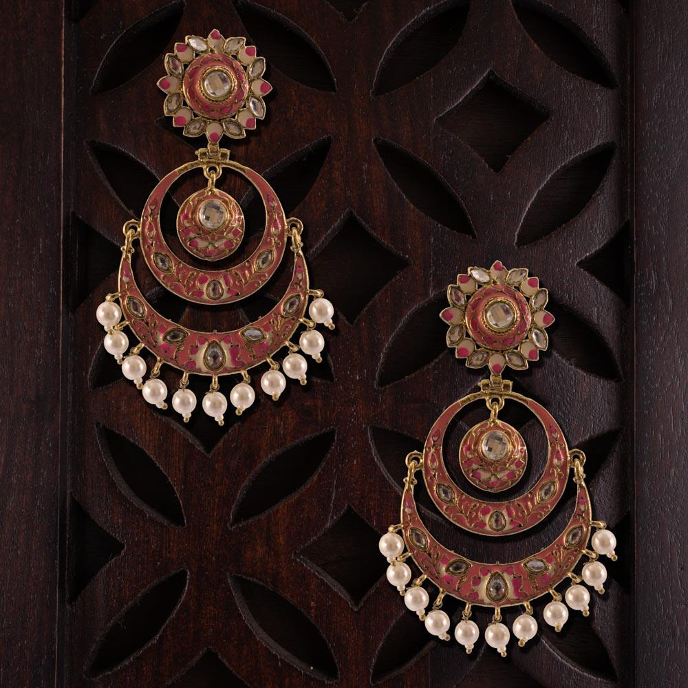 Embellished chandbali elegante earrings