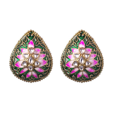 delicate floral pink jhumkas