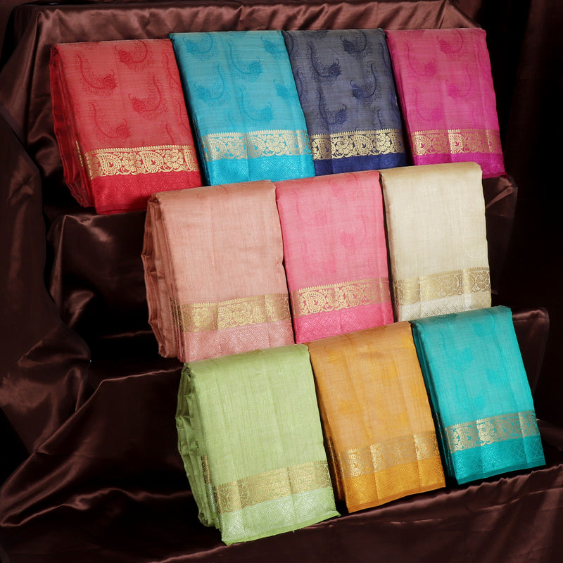 Raw Silk Sarees Gift Pack of 10