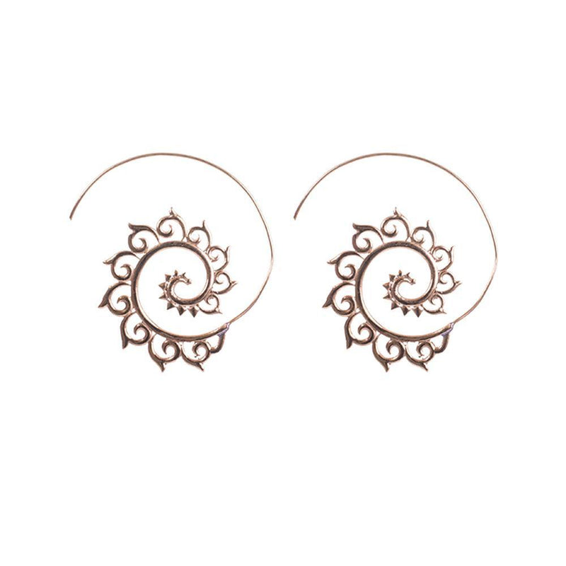 Gold Plated Hoop Classy Earrings
