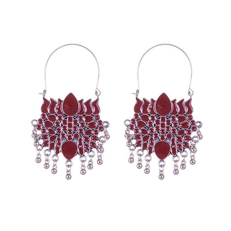 Lotus Style Pattern Earrings