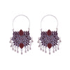 Lotus style dangling elegant earrings