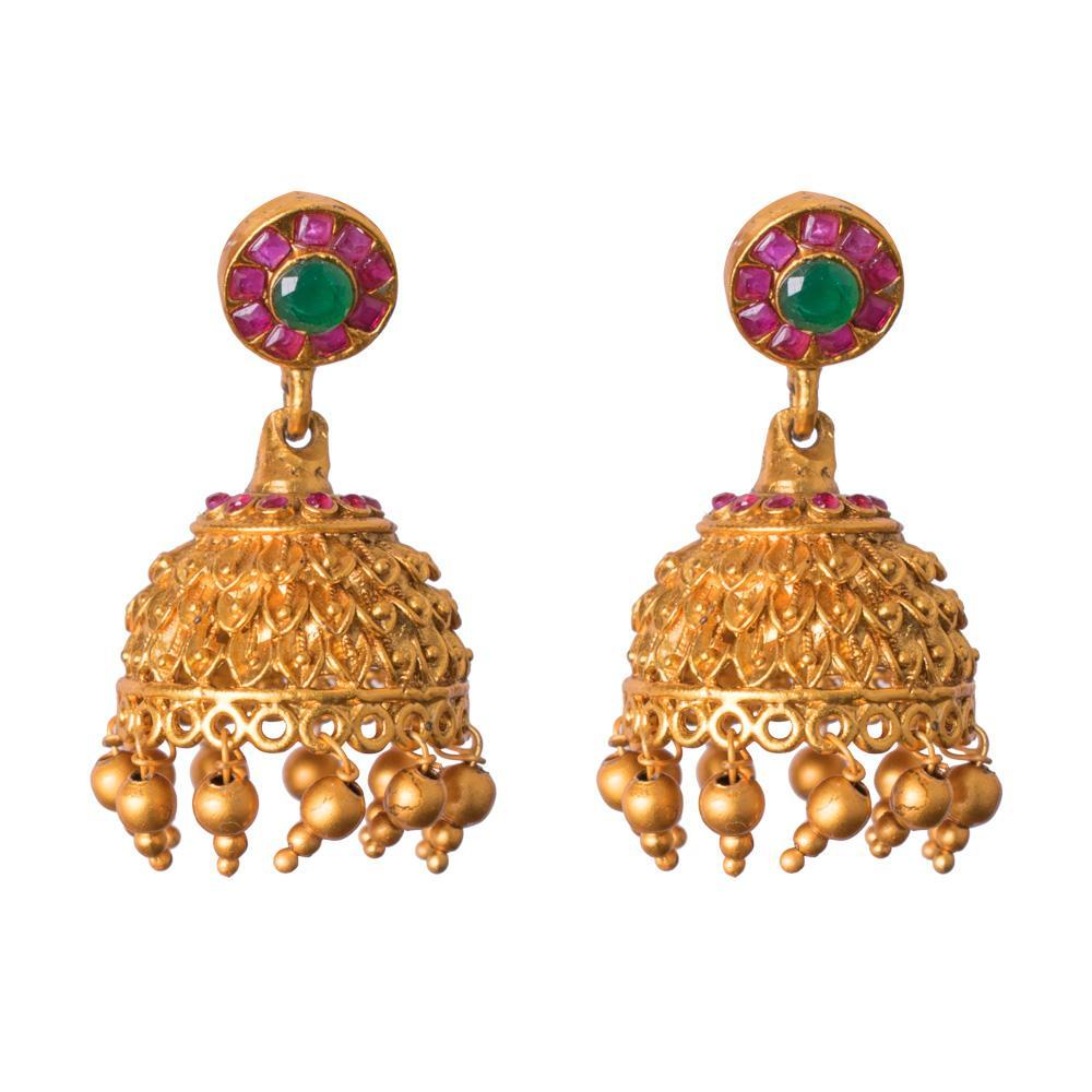 Heavy gold jhumkas