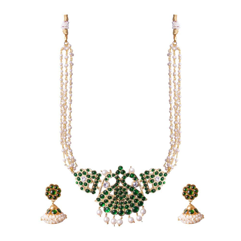 Pearl green kemp necklace