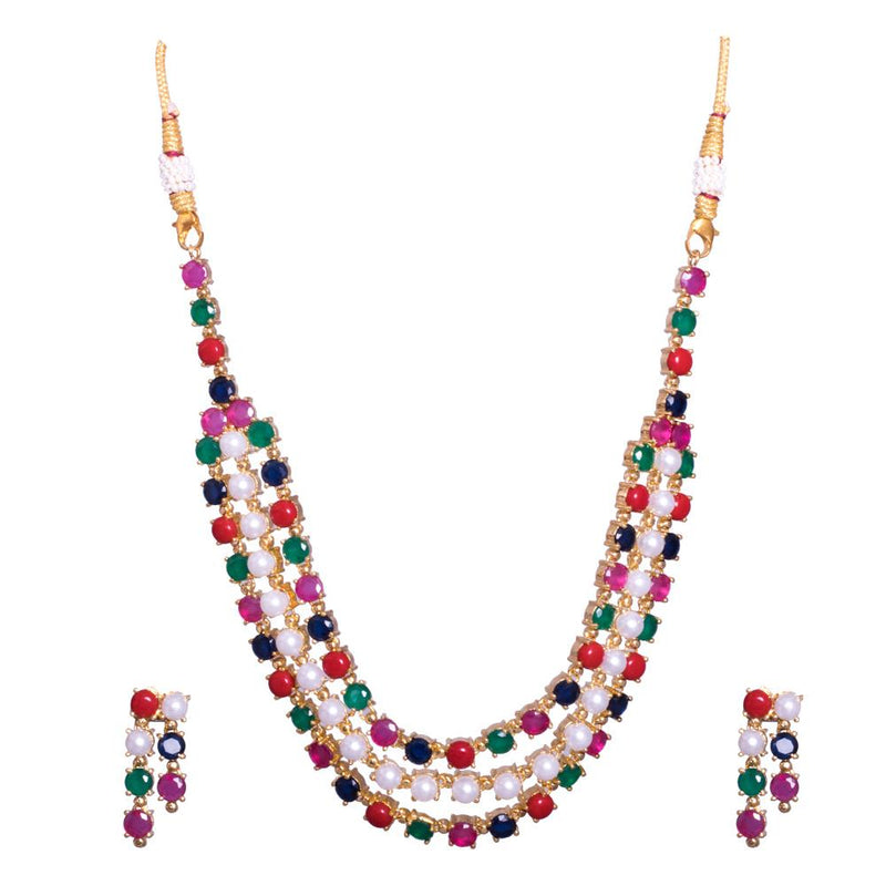 Colourful necklace set