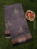 Bhagalpuri printed saree grey with allover prints