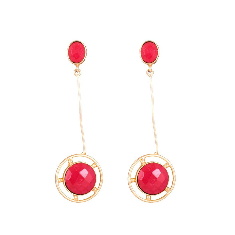 Beauty Bright Red Statement Earrings