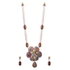 pearl beaded splash necklace set