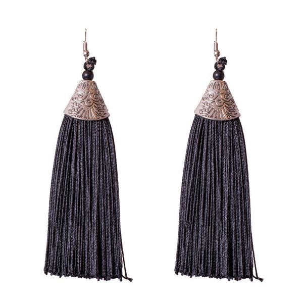 Classy Black Feather Earrings