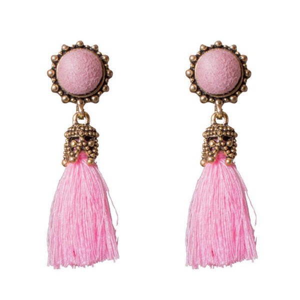 Pink Stylish Tassel earrings