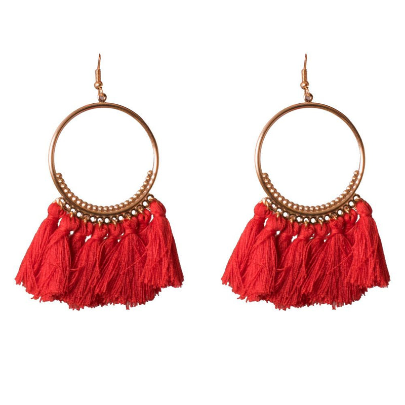 Red Dangler Earrings