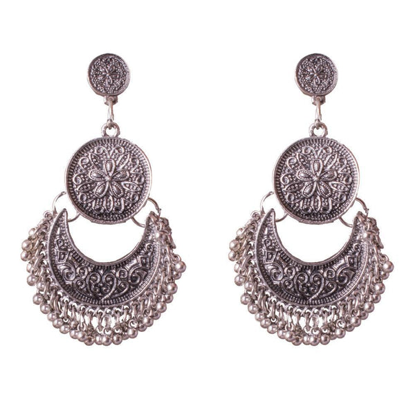 Chandbali Style Oxidized Earrings