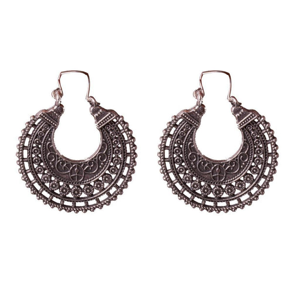 Chandbali Style Carved Earrings