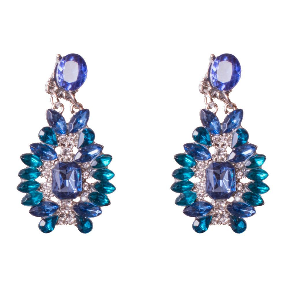 Aqua blue semi precious earrings