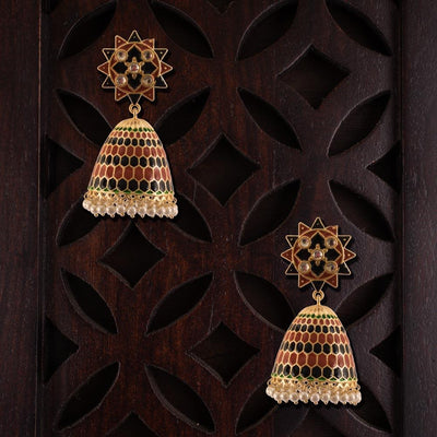Conical Multicolour Painted Gorgeous Earrings