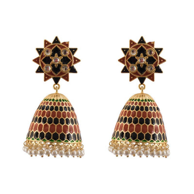 Conical black earrings