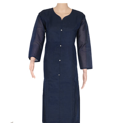 Chanderi Kurta Dark Blue with kundan stone