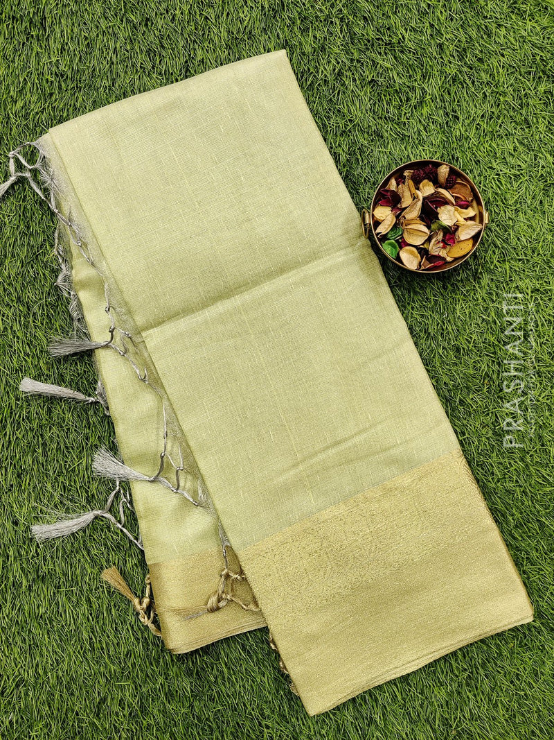 Manipuri Kota saree cream with zari woven border