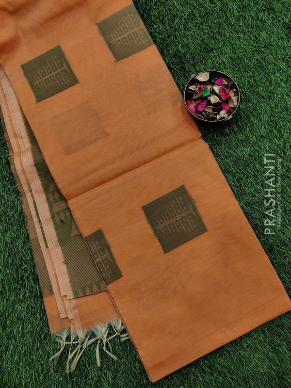 South kota saree peach with thread buttas and thread pallu