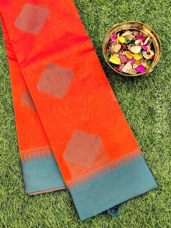 South kota saree sunset orange with thread buttas and thread pallu