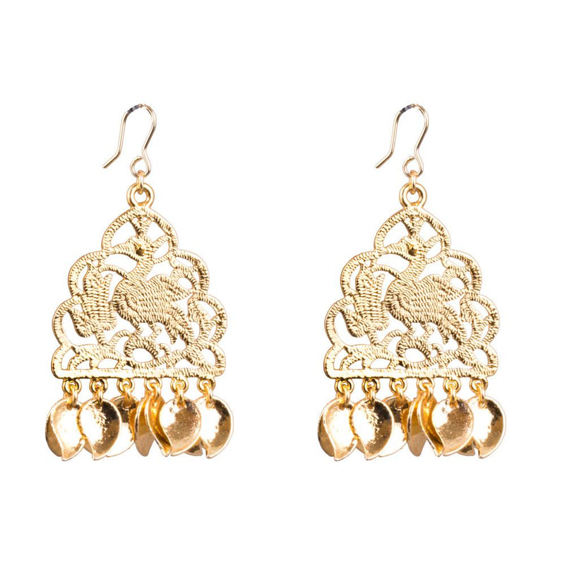Gold Plated Casual Wear Dangler Earrings for Rs.Rs. 250.00 | Earrings by Prashanti Sarees