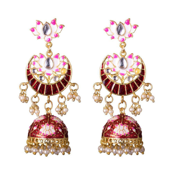 HandCrafted Glossy Red Jhumkas