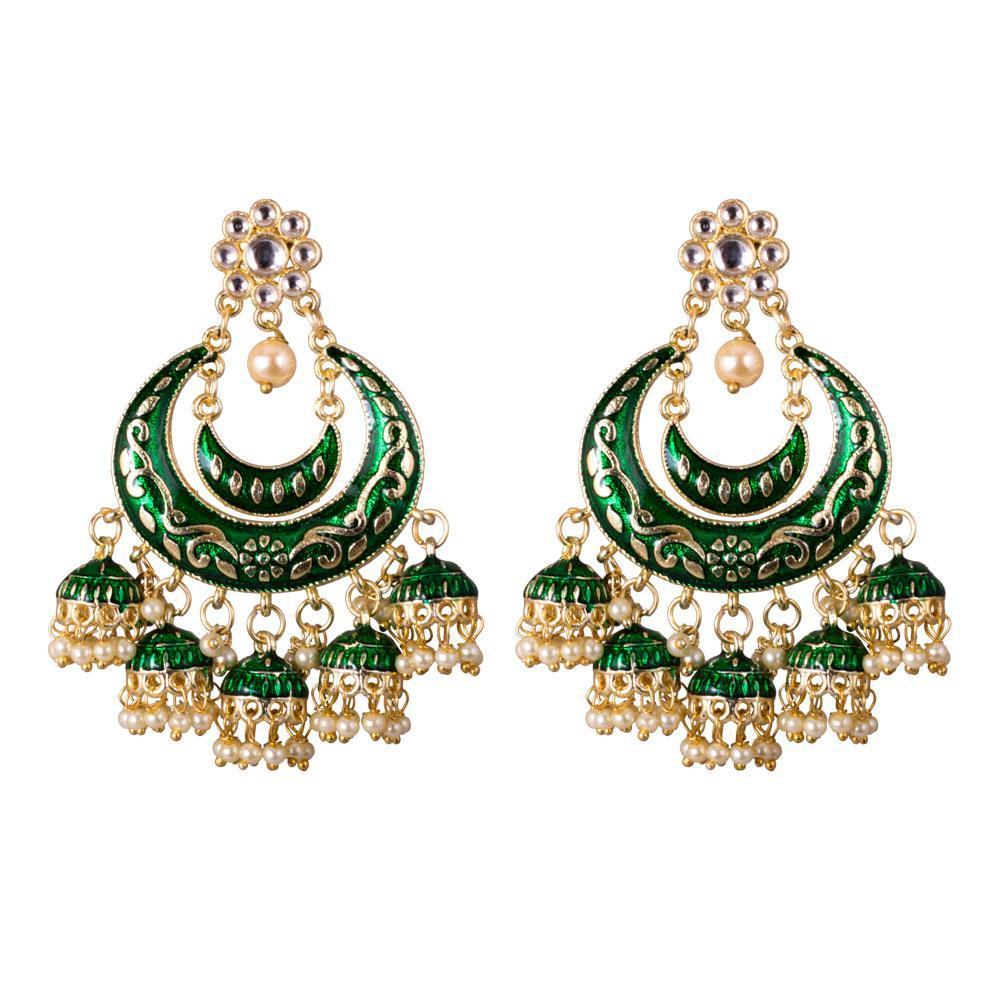 chandbali layered jhumkas