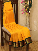 Silk Cotton saree yellow and green with rich korvai zari border