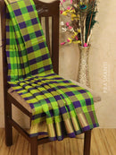 Silk cotton saree multi colour with zari checks and zari woven border
