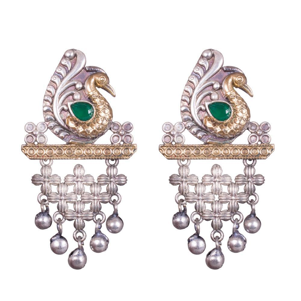 Peacock extravagant earrings