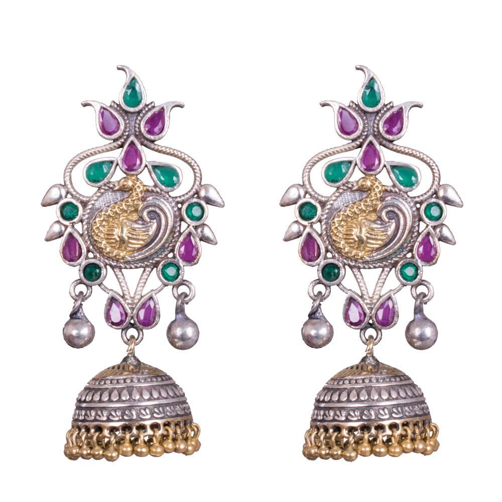 Indian dual tone earrings