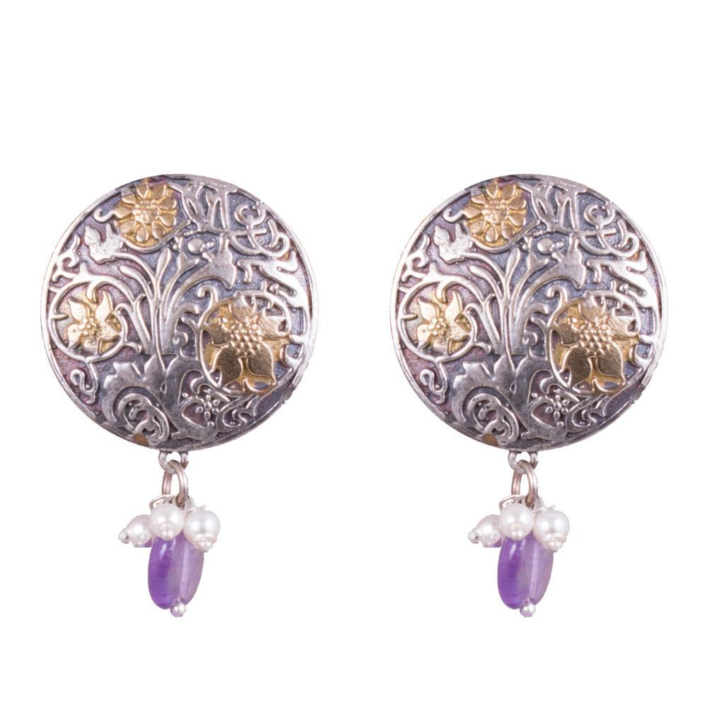 Classic touch dual toned jhumkas