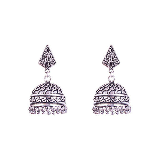 Silver Plated Stylish jhumkas