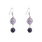 Dangling Silver Finish Earrings