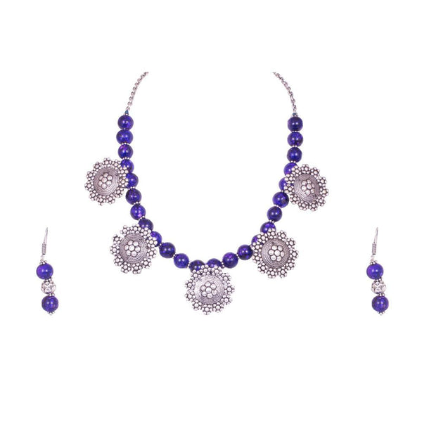 Purple Royal Crystal Beaded Necklace