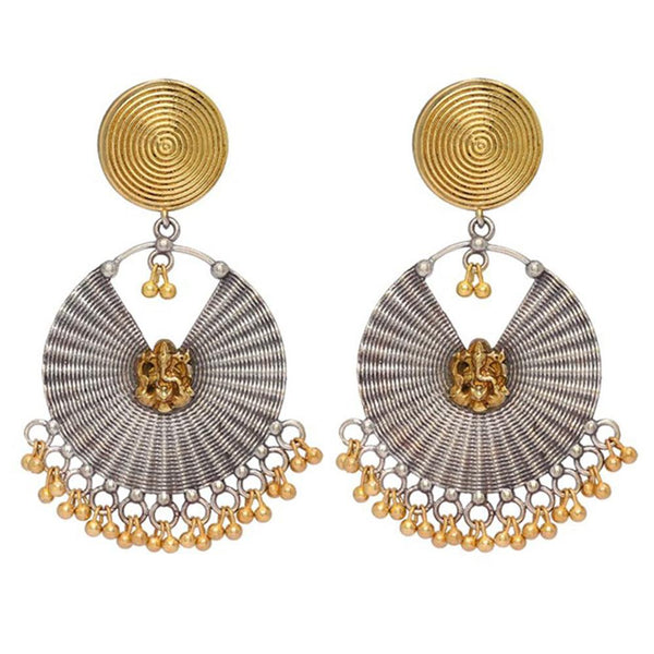 Gold And Silver Plated Stylish Earrings