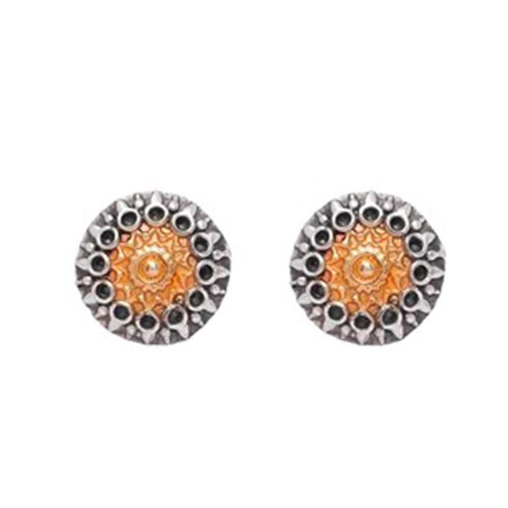 Bold statement circular earrings