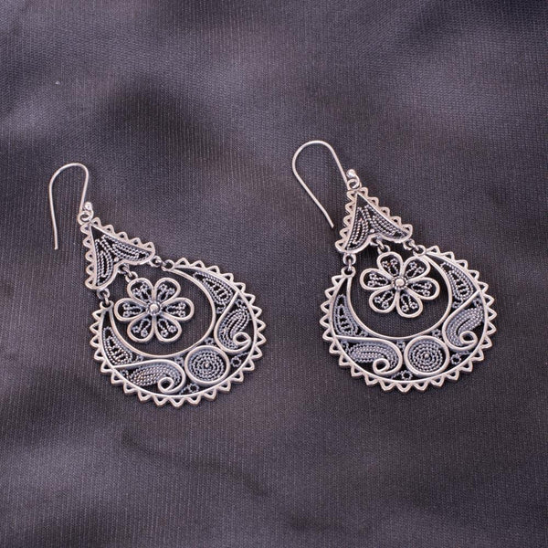 Modern Designer 92.5 Silver Earrings
