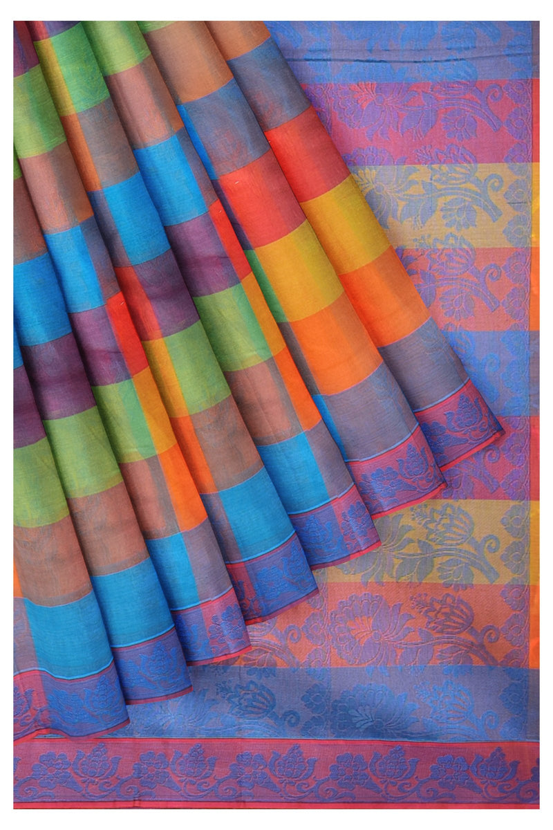 Coimbatore Cotton Saree Multicolour Paalum Pazhamum checks