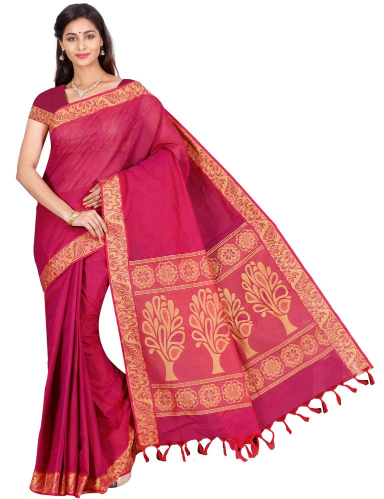 coimbatore Cotton Saree - Maroon