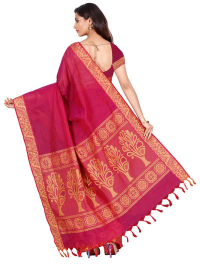 coimbatore Cotton Saree - Maroon for Rs.Rs. 1799.00 | Cotton Sarees by Prashanti Sarees