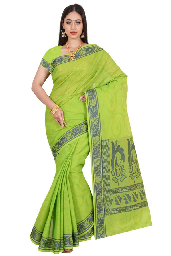coimbatore Cotton Saree - Green