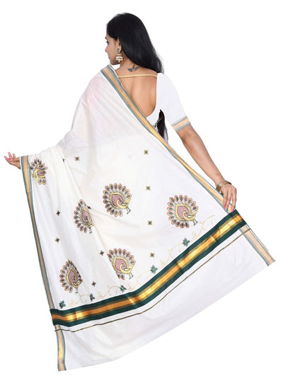 coimbatore Cotton Saree - White for Rs.Rs. 1099.00 | by Prashanti Sarees