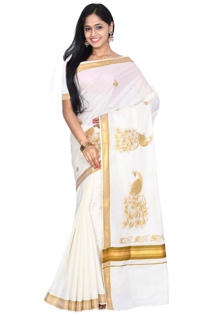 coimbatore Cotton Saree - White and Mustard for Rs.Rs. 1099.00 | by Prashanti Sarees