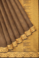 Coimbatore Cotton Emboss Saree - Brown