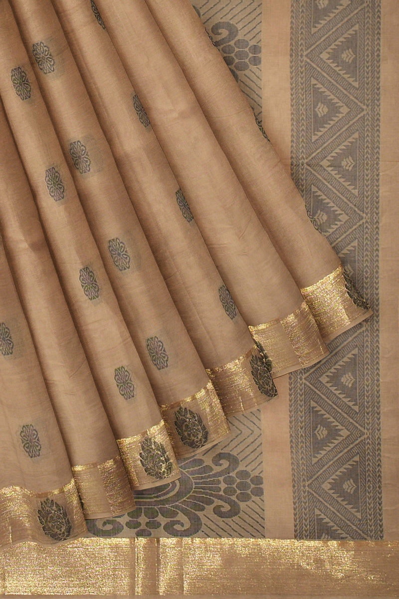 Coimbatore Cotton Saree - Cream