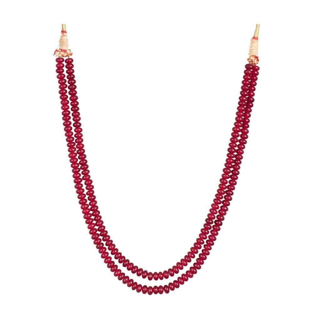 Red Beaded Charms Necklace